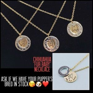 """""""Fur Ever in My Heart""""Fur Baby Necklace-Chihuahua"""